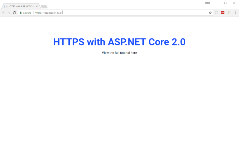 Develop Locally with HTTPS, Self-Signed Certificates and ASP NET Core