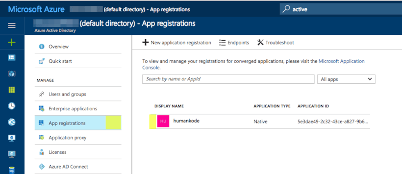 View Azure App Registrations - How to Store Secrets in Azure Key Vault Using .NET Core